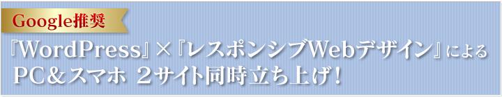 Google推奨WordPress×レスポンシブWebデザイン